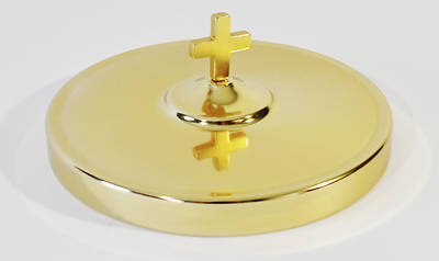 Small Brasstone Communion Tray Cover