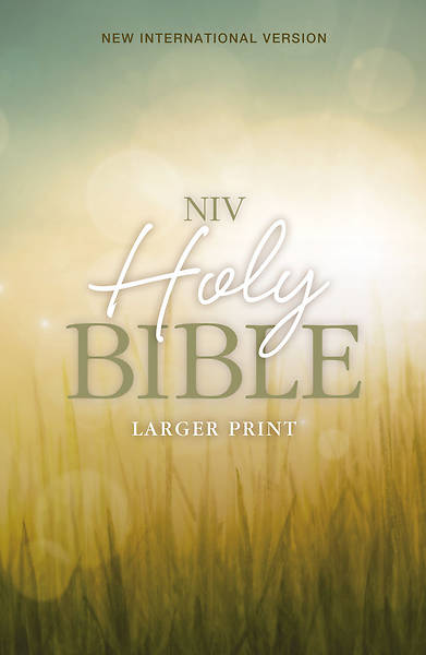 NIV Larger-Print Bible; Nature