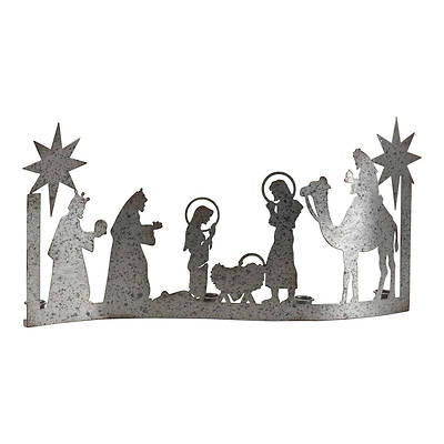 """Picture of Nativity Advent Candle Holder 10 1/2H""""X21""""W"""