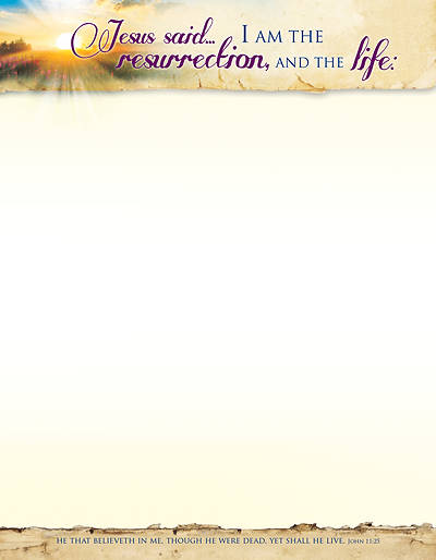 Picture of Jesus Said... Easter Letterhead Pk of 100
