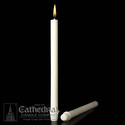 "Picture of Cathedral 51% Beeswax Altar Candles - 7/8"" x 16"""