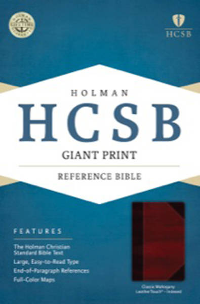 HCSB Giant Print Reference Bible, Classic Mahogany Leathertouch Indexed