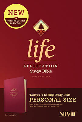NIV Life Application Study Bible, Third Edition, Personal Size (Leatherlike, Berry)