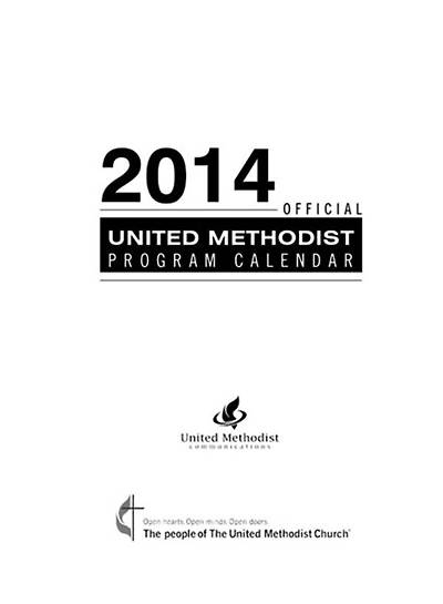 Official United Methodist Program Calendar 2014 Pocket (3 3/4