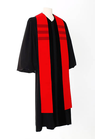 Trinity Stripe Stole - Red
