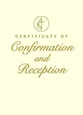 United Methodist Covenant I Certificate of Confirmation and Reception (Pkg of 3)