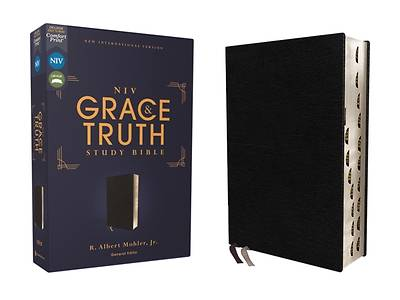 Picture of Niv, the Grace and Truth Study Bible, European Bonded Leather, Black, Red Letter, Thumb Indexed, Comfort Print