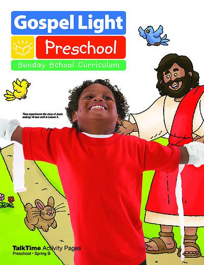 Gospel Light Preschool Talk Time Activitiy Pages Spring 2017