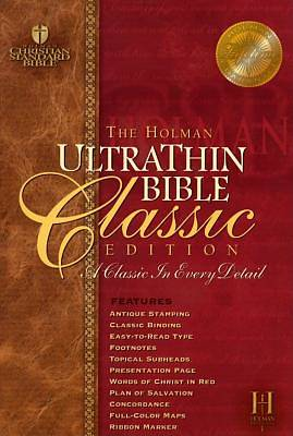 Picture of Ultrathin Reference Bible-Hcsb-Classic