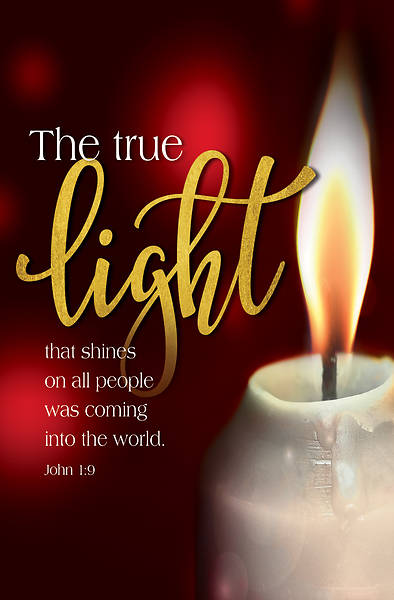 Picture of The True Light Candlelighting Christmas Bulletin (Pkg of 50)