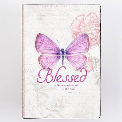 Journal Printed Lux-Leather Butterfly Blessed Jeremiah 17