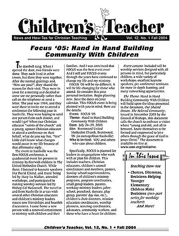 Picture of Children's Teacher Fall 2004 Volume 12 Number 1