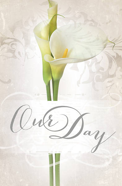 Our Day Wedding Bulletin Pkg of 100