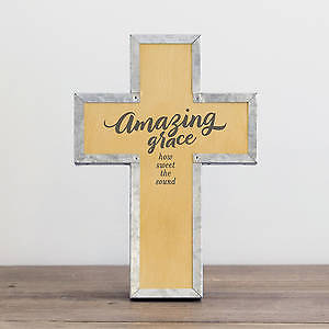 Picture of Amazing Grace Metal Wrap Cross