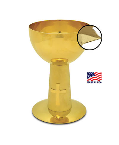 CONTEMPORARY GOLD PLATED CHALICE WITH APPLIED POURING SPOUT