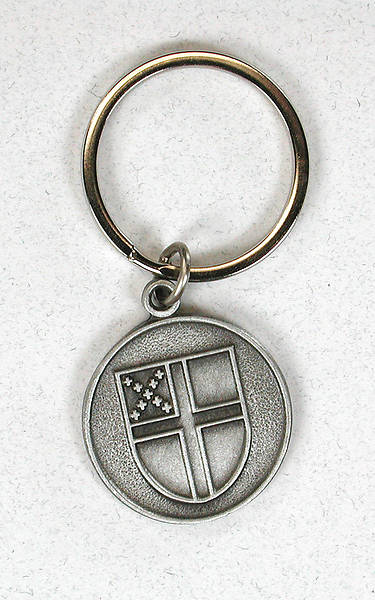 Picture of Pewter Episcopal Shield Key Ring