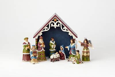 Victorian Mini Nativity 10 Pc