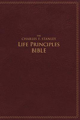 NIV, the Charles F. Stanley Life Principles Bible, Imitation Leather, Burgundy, Red Letter Edition