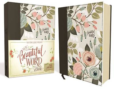 NKJV, Beautiful Word Bible, Hardcover, Purple Floral Cloth, Red Letter Edition