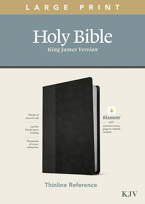 Picture of KJV Large Print Thinline Reference Bible, Filament Enabled Edition (Red Letter, Leatherlike, Black/Onyx)