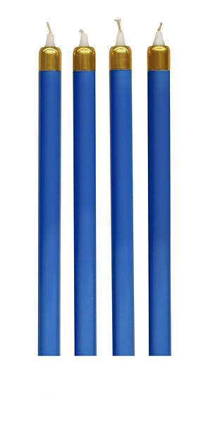 Advent Wreath Tube Candles Set (4 Blue)