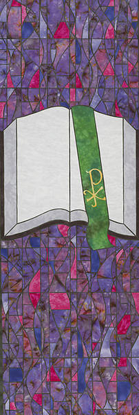 Symbols of Faith Series Stained Glass Bible Banner 2x6