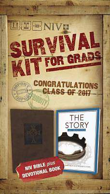 NIV, 2017 Survival Kit for Grads, Boys Edition, Brown, Red Letter Edition