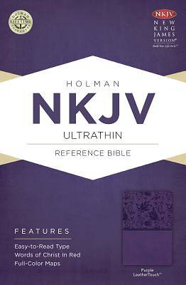 Picture of NKJV Ultrathin Reference Bible, Purple Leathertouch