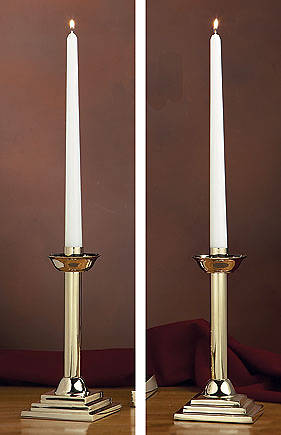 Picture of Sudbury KC485 Solid Brass Candlesticks