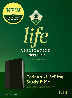 Picture of NLT Life Application Study Bible, Third Edition (Red Letter, Leatherlike, Black/Onyx)