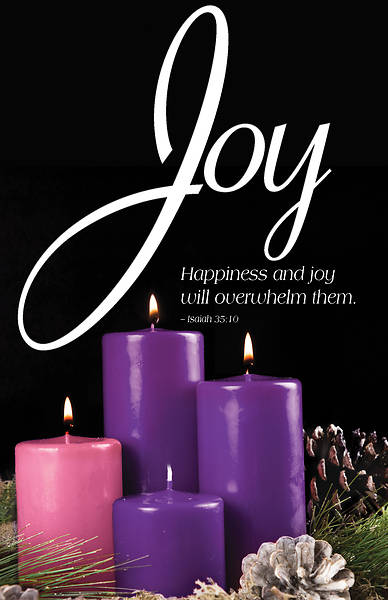 Picture of Joy Advent Candle Sunday 3 Bulletin (Pkg of 50)