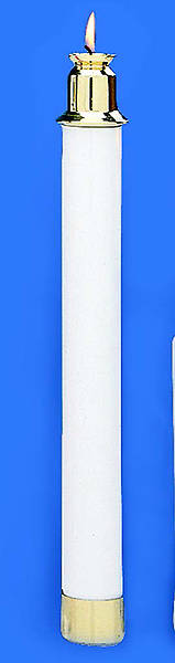 Picture of Tube Candles 13 1/2 Inch White, Pair