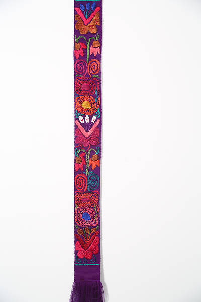 Fair Trade Purple Flower Stole