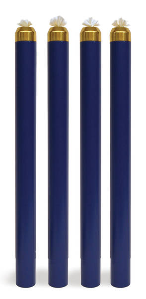 Picture of Artistic ART 542 Liquid Wax Disposable Canister Advent Candle Set - 4 Blue