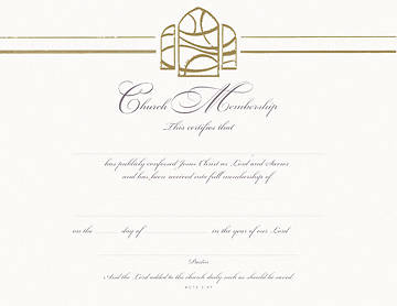 Picture of Premium Gold-Foil Embossed Membership Certificate with Envelope (Package of 6)