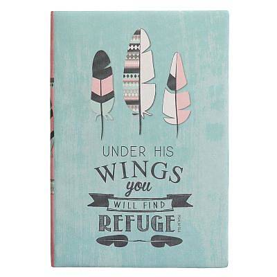 Journal Printed Lux-Leather Under His Wings Psalm 91
