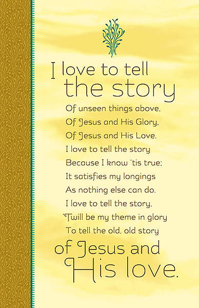 Missions Bulletin - I Love to Tell The Story (Pack of 100)