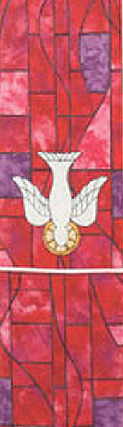 Symbols of Faith Series Stained Glass Descending Dove Stole