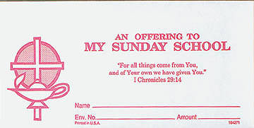 Picture of To My Sunday School Offering Envelope (Set)