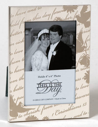 """Picture of """"This Is The Day""""  Wedding Photo Frame Keepsake"""
