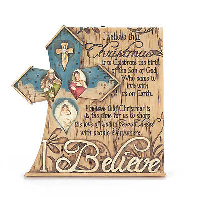 Resin Plaque - I Believe 5