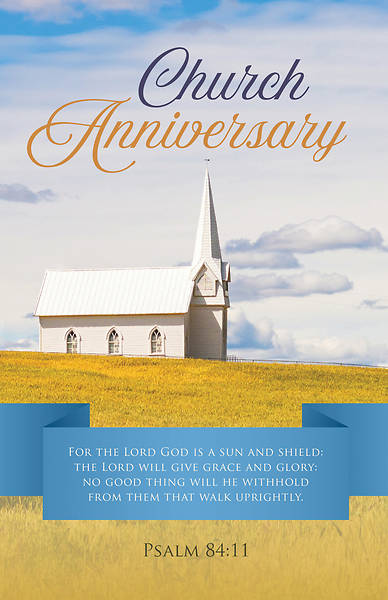 Picture of Church Anniversary Regular Size Bulletin