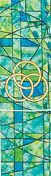 Picture of Symbols of Faith Series Stained Glass Trinity Stole