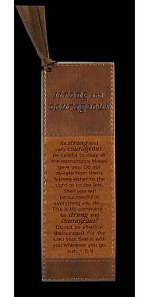 BROWN LUXLEATHER PAGEMARKER