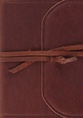 Picture of ESV Journaling Bible, Large Print (Brown, Flap with Strap)