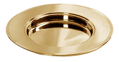 Bread Plate, Solid Brass Communion Non-Stacking
