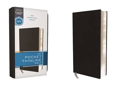 Picture of Niv, Pocket Thinline Bible, Bonded Leather, Black, Red Letter, Comfort Print