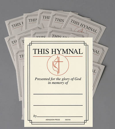 United Methodist Hymnal In Memory of Bookplate (Package of 15)