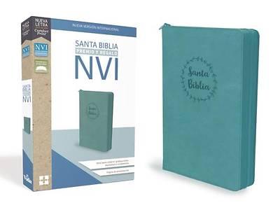 Picture of Santa Biblia de Premio y Regalo Nvi, Leathersoft, Aqua Con Cremallera