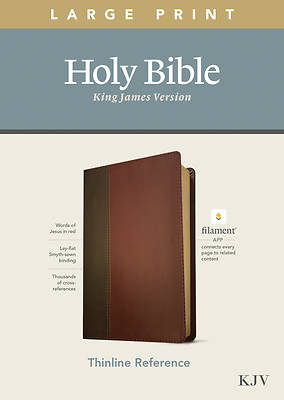 Picture of KJV Large Print Thinline Reference Bible, Filament Enabled Edition (Red Letter, Leatherlike, Brown/Mahogany)